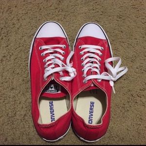 New Converse Red Unisex Men's 9, Women's 11